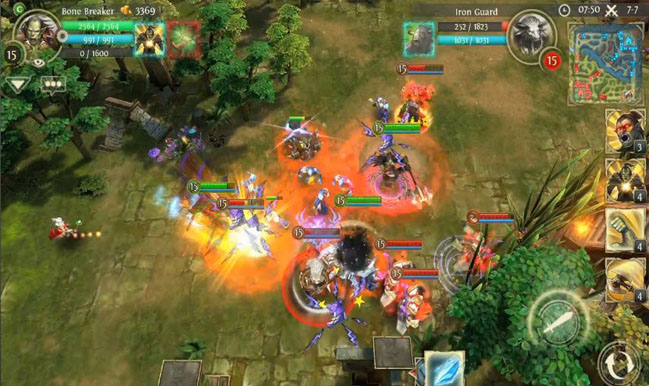 heroes of order and chaos iphone review